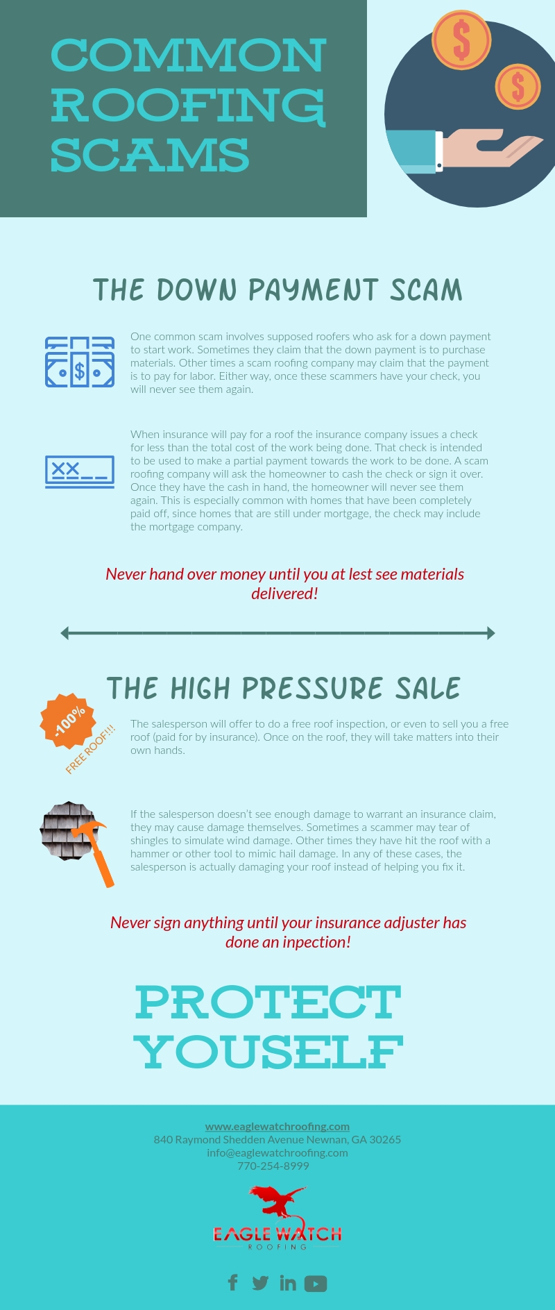 Avoid These Common Roofing Scams [infographic]
