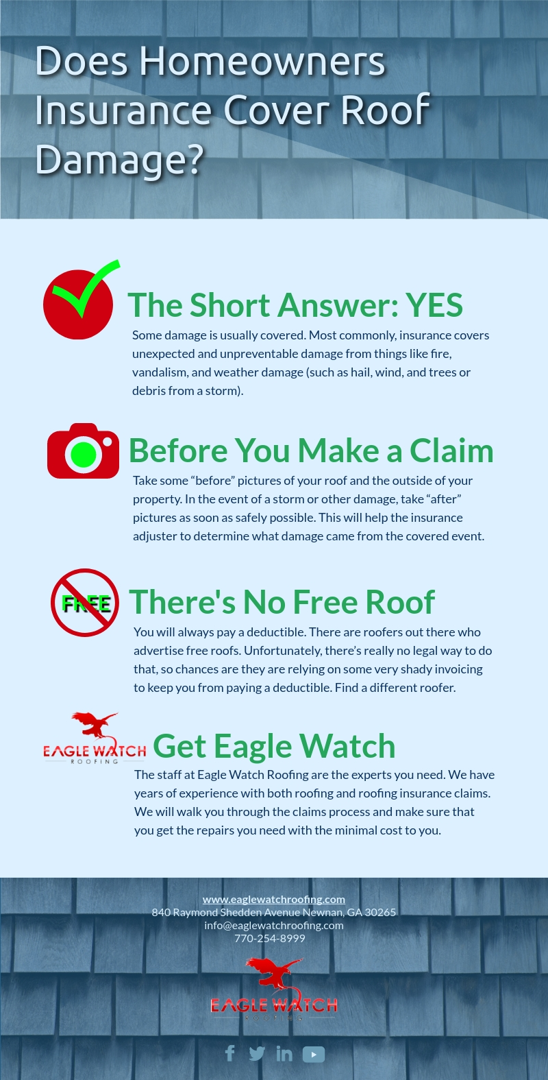 Does Homeowners Insurance Cover Roof Damage [infographic] 2