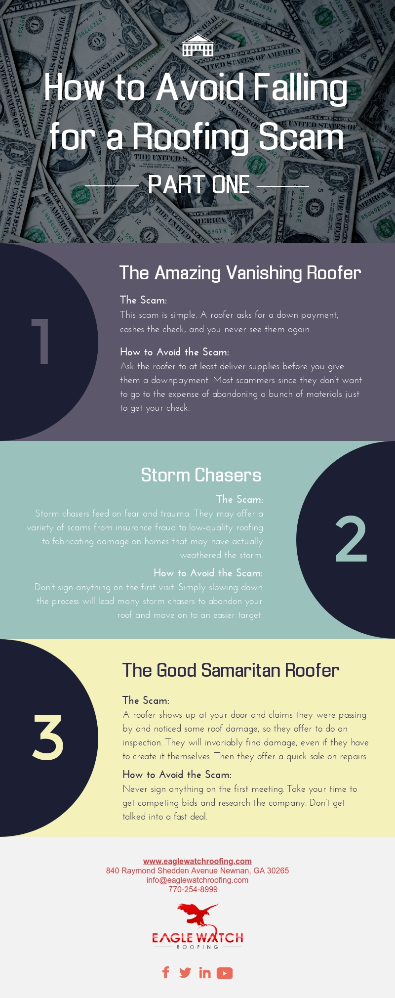 How to Avoid Falling for a Roofing Scam - Part One [infographic]