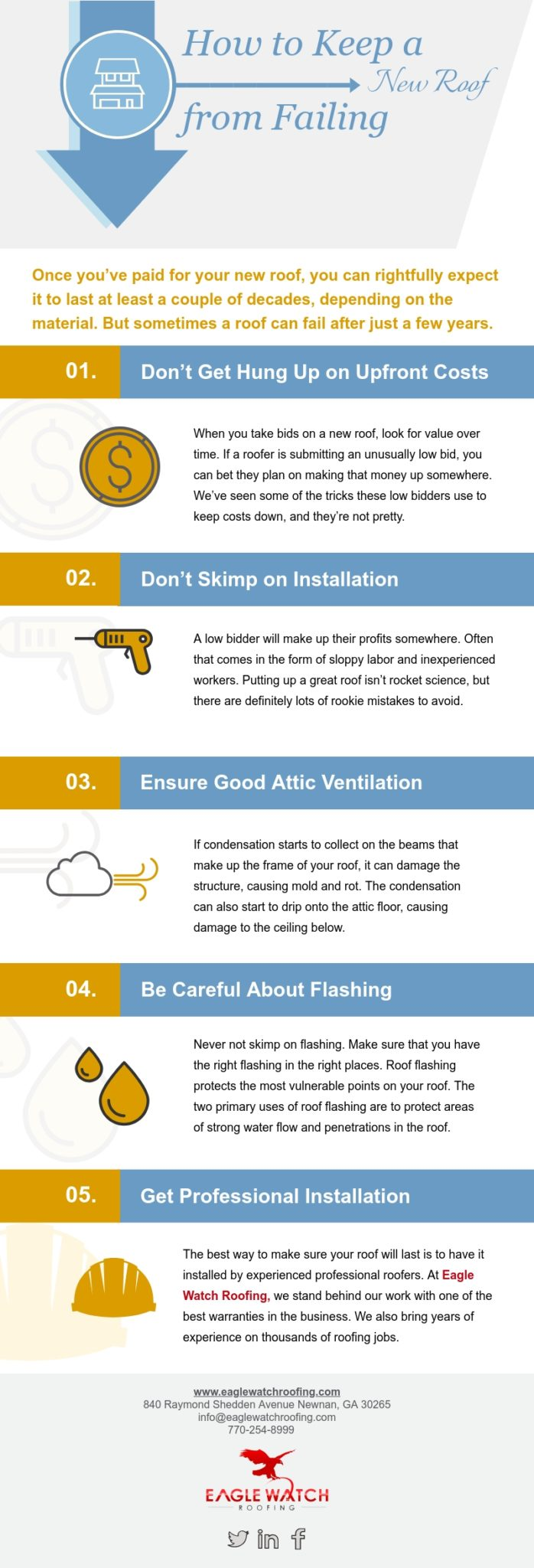 How to Keep a New Roof from Failing [infographic]