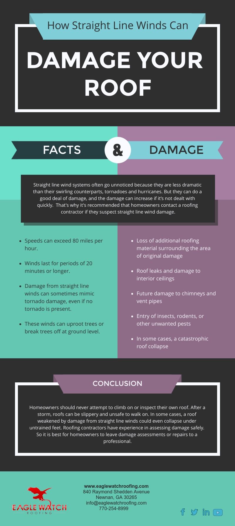 How Straight Line Winds Can Damage Your Roof [infographic]