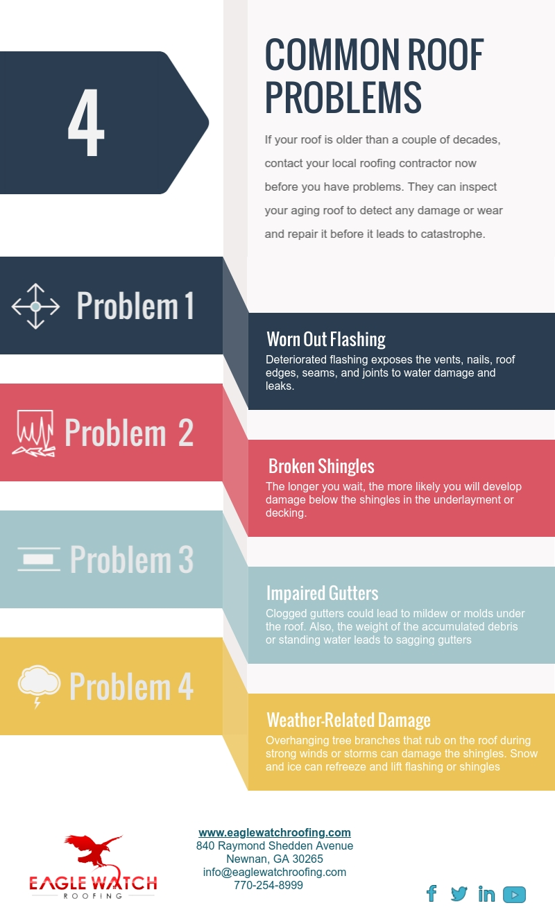 4 Common Roof Problems [infographic]